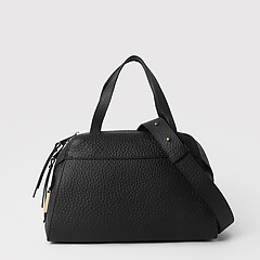 892df98fa161 ... Черная сумка-тоут трапеция из крупнозернистой матовой кожи Gilda Tonelli  0800 black