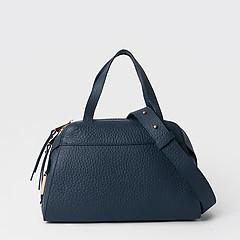fb8f983ef416 ... Синяя сумка-тоут трапеция из крупнозернистой матовой кожи Gilda Tonelli  0800 blue