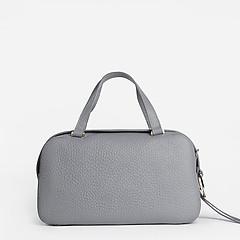 61953c44bc34 ... Серая сумка-баулет из матовой крупнозернистой кожи Gilda Tonelli 0802  grey