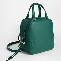 ... Сумка-рюкзак из натуральной кожи в оттенке виридиан Gilda Tonelli 0803  viridian ad3e0e157e3