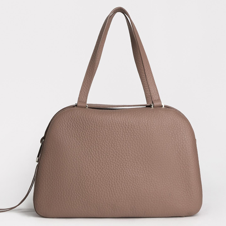 656385cdde2e Бежевая сумка-тоут на плечо из натуральной кожи Gilda Tonelli Женские  классические сумки Gilda ...