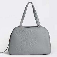 ae8c3a84651e ... Серая сумка-тоут на плечо из натуральной кожи Gilda Tonelli 0805 grey