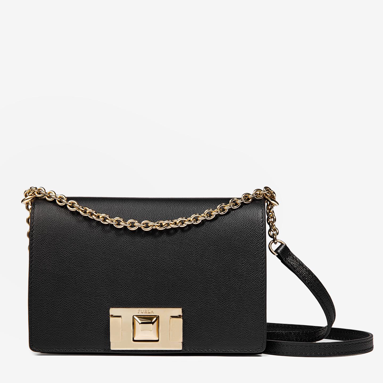 3c4946c74ee8 Маленькая кожаная сумочка Mimi черного цвета на цепочке – Италия ...