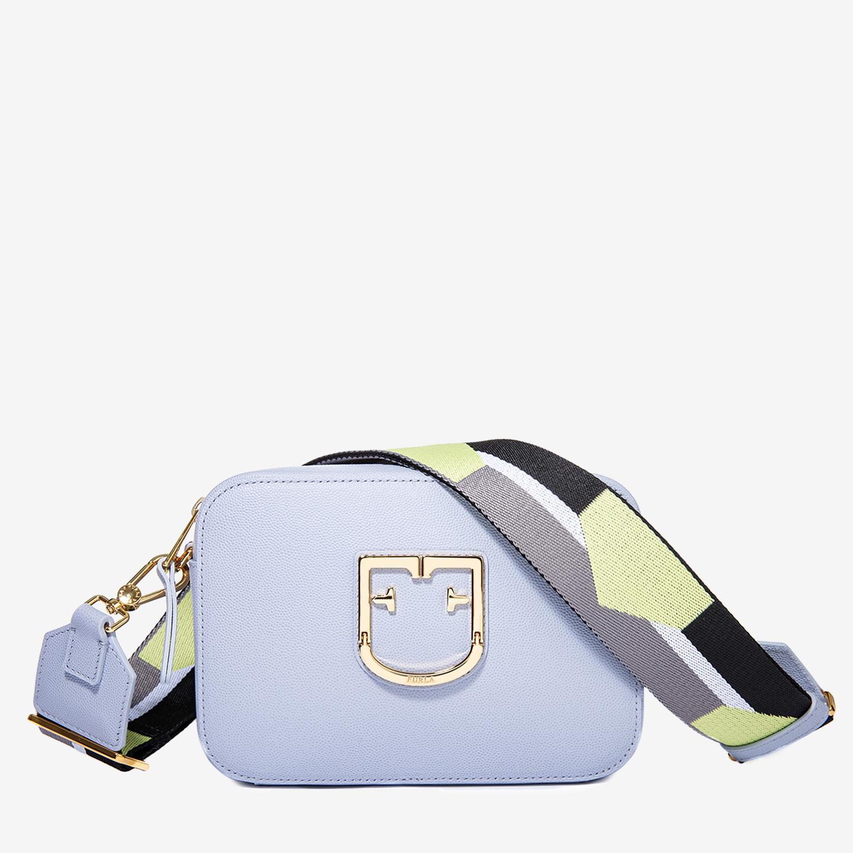 2026235b6e2e Маленькая кожаная сумочка-кросс-боди Brava в голубом цвете – Италия ...