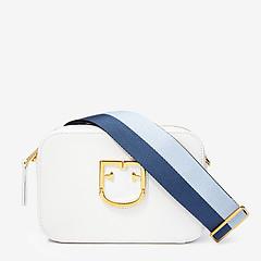 68590f5ae5ea ... Маленькая кожаная сумочка-кросс-боди Brava в белом цвете Furla 1007913  white