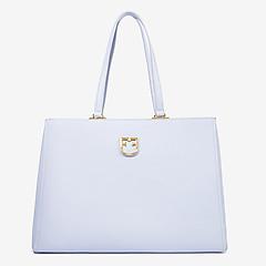 85bd3abe5ef9 ... Голубая кожаная сумка-тоут Belvedere среднего размера Furla 1008021 blue