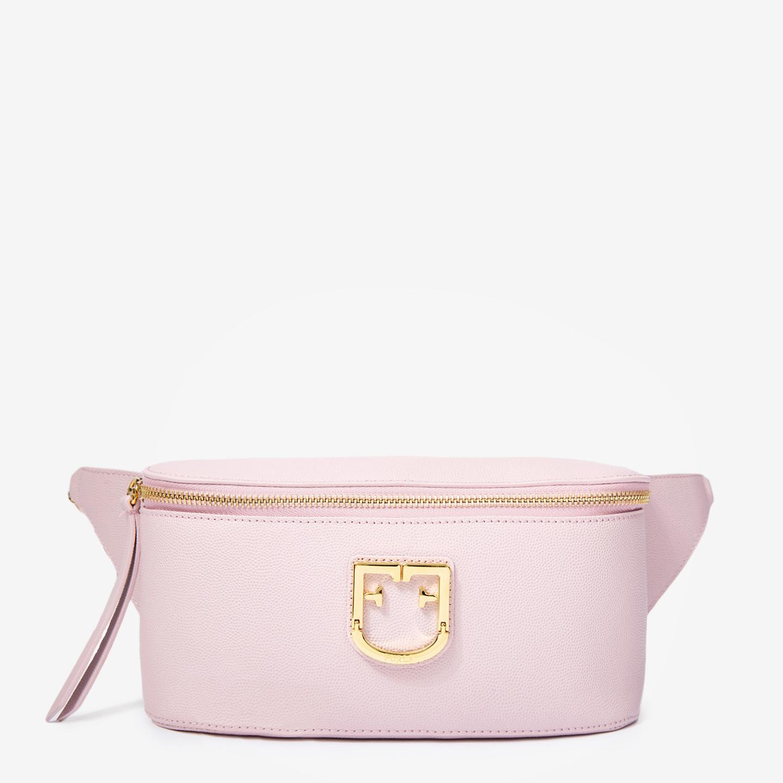 b5088244dcce Розовая кожаная сумка-бананка Isola с регулируемым ремнем-цепочкой Furla ...