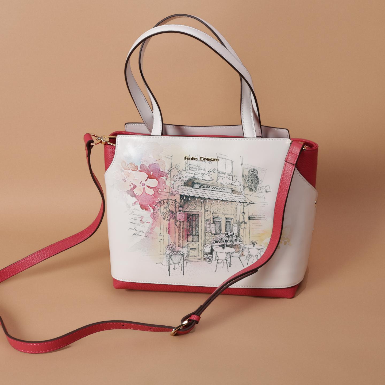 d3e5598ea491 Яркая сумка с принтом итальянской открытки – Китай, белого цвета ...