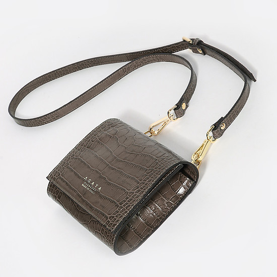 Agata 1059 croco black wood