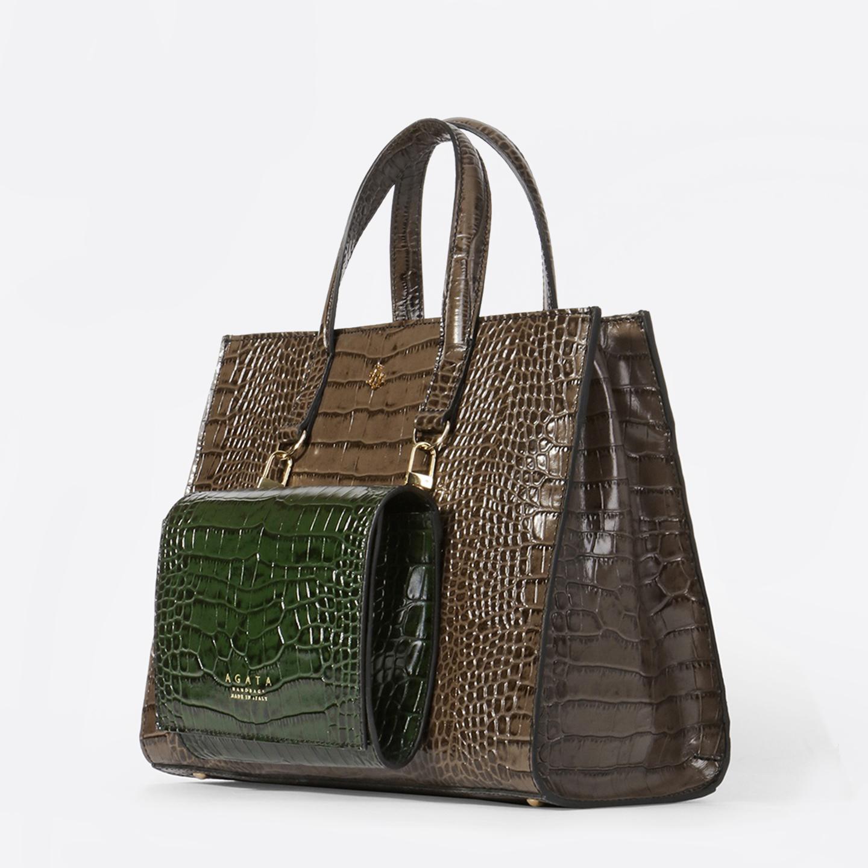 00c20b0b3de9 Винтажная сумка 2 в 1 – Италия, зеленого цвета, натуральная кожа ...