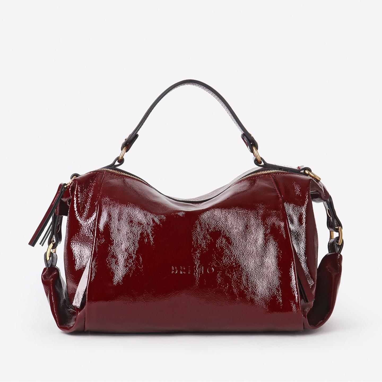 e3087f21beb5 Мягкая сумка-багет из бордовой лаковой кожи – Италия, бордового ...