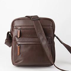 29fd71482fd7 ... Повседневная мужская сумка через плечо из коричневой кожи Bond 1126-4  brown