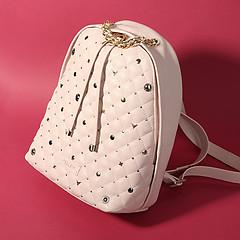 87c10394f426 ... Пастельно-розовый кожаный рюкзак на ручке-цепочке KELLEN 1130 pastel  rose