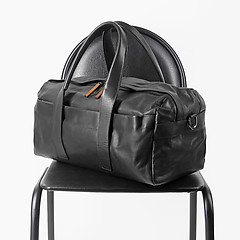 8ebba0e13a79 ... Мужская дорожная сумка из мягкой кожи черного цвета Bond 1137-1 black