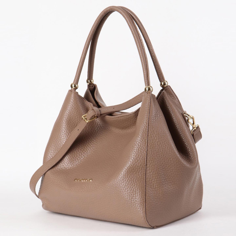 c4b8763995d3 Светло-коричневая сумка-мешок из натуральной мягкой кожи Di Gregorio ...