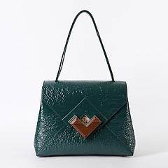 f9ed57815d81 ... Бирюзовая трапециевидная сумка на плечо из плотной лаковой кожи с  эффектом помятости Gironacci 1191 turquese gloss