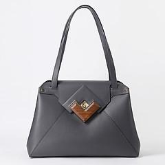 0892f80bce19 ... Темно-серая трапециевидная деловая сумка на плечо из плотной телячьей  кожи Gironacci 1192 dark grey