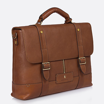 Мужской портфель Backster 12042 cognac