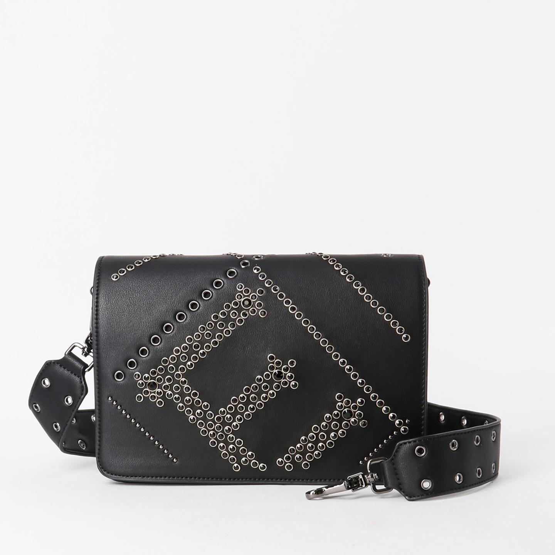 c175aff478cc Черная сумочка-клатч из экокожи с комплектом из двух ремней ERMANNO Ermanno  Scervino ...