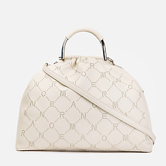 c9cfd91bf7cf ... Белая сумка-мешок из экокожи с монограммой ERMANNO Ermanno Scervino  12400710 white