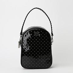 913cfa6e0fc4 ... Черный лаковый рюкзак из экокожи со стразами ERMANNO Ermanno Scervino  12400757 black