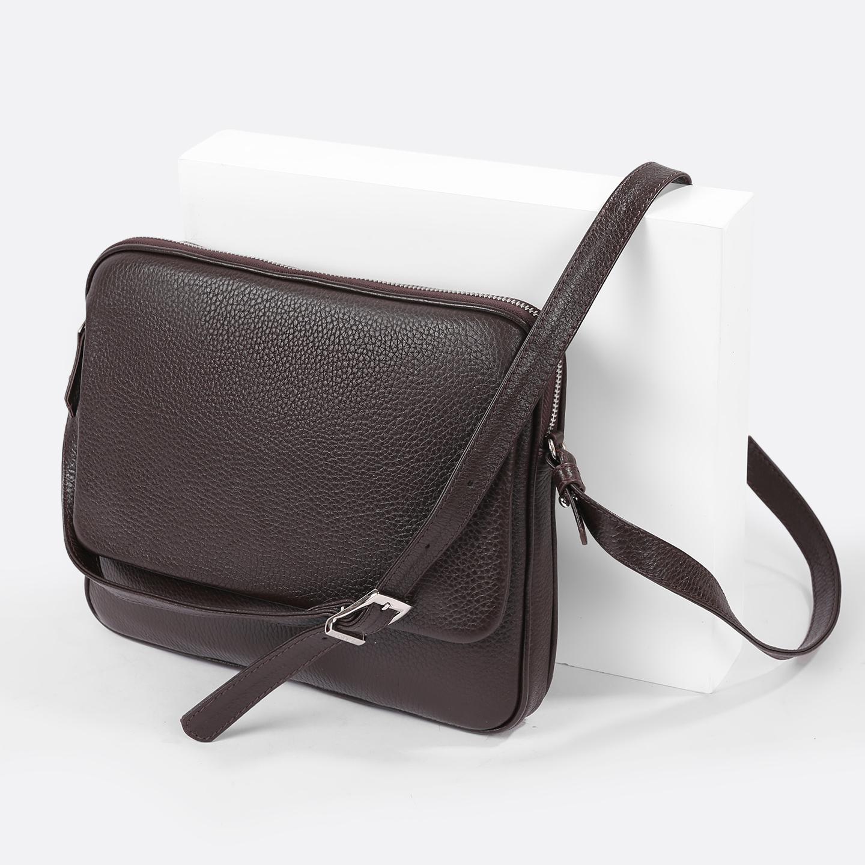 f56572a08981 Мужская сумка на плечо темно-коричневого цвета из натуральной кожи Bond ...