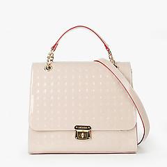 fa7f65212 ... Бежевая лаковая сумка из натуральной кожи с тиснением Arcadia 1388  beige gloss