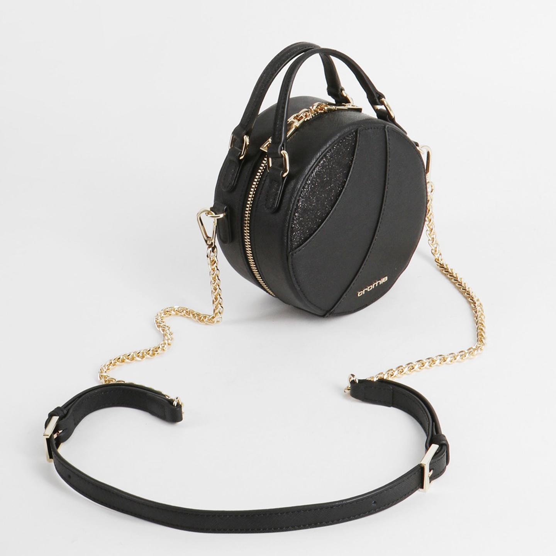7d59eb8d8dad Круглая черная сумка кросс-боди Caribe – Италия, черного цвета ...
