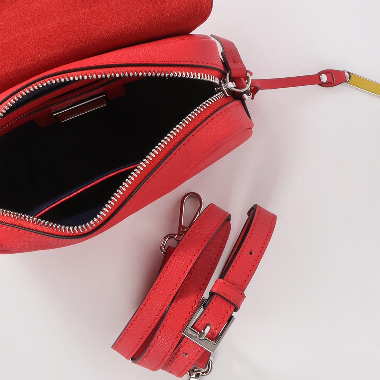 Красная сумочка кросс-боди из сафьяновой кожи с креплением на пояс ... fc66df8de38