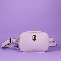 0cc376cfc9a7 ... Овальная поясная сумка IMA из кожи лавандового оттенка с дополнительным  наплечным ремешком Cromia 1404163 pale lavender
