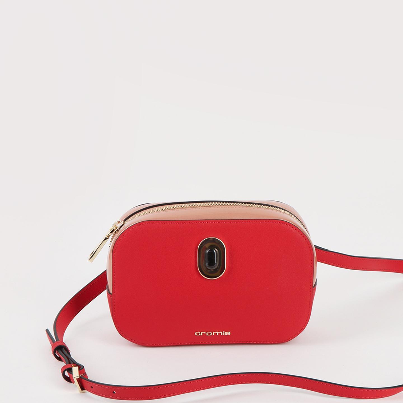 dd26737ae3c3 Красная овальная поясная сумка IMA из натуральной кожи с дополнительным  наплечным ремешком Cromia ...