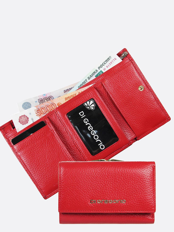 f0d8ff1babf0 Кошелек Di Gregorio 1432 E red – Италия, красного цвета, натуральная ...