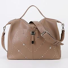 cf9f49cbcde1 ... Вместительная мягкая сумка из кожи в бежевом оттенке на каждый день или  для путешествий KELLEN 1435