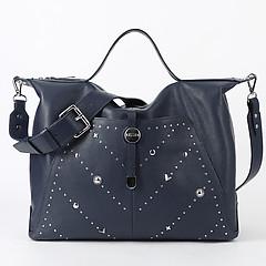 a78c99a9b805 ... Вместительная мягкая сумка из синей кожи на каждый день или для  путешествий KELLEN 1435 blue sun