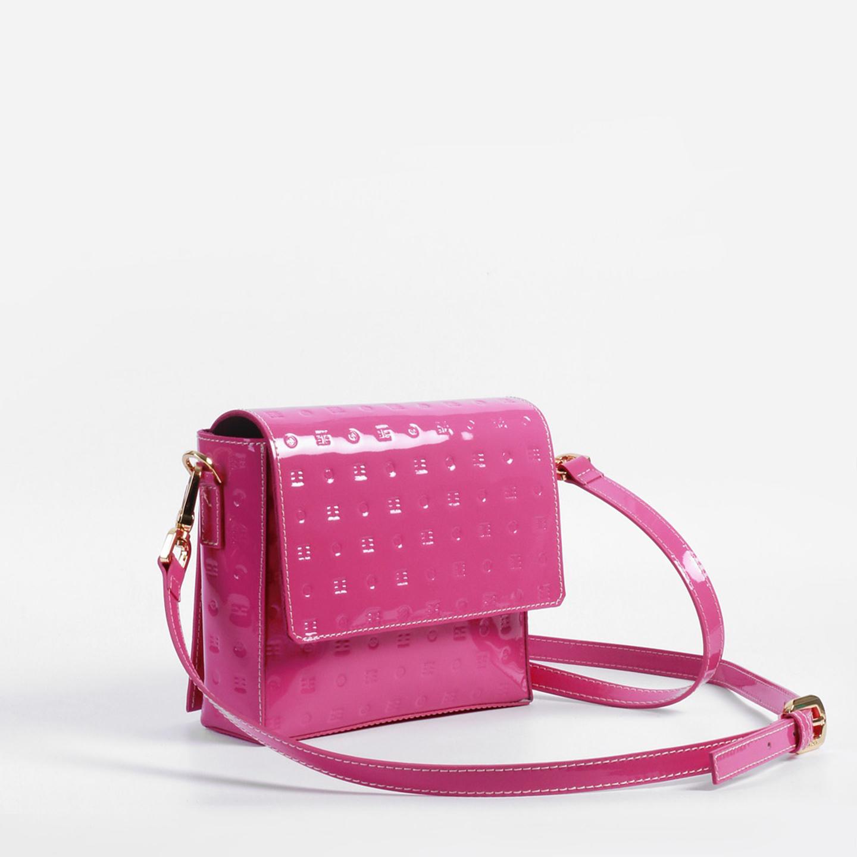 54e80e055019 Лаковая сумочка кросс-боди в оттенке фуксии – Италия, розового цвета ...
