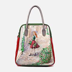 d38929787fa8 ... Кожаная сумка-тоут большого размера в стиле колор-блок с ручной  росписью Balagura 1794