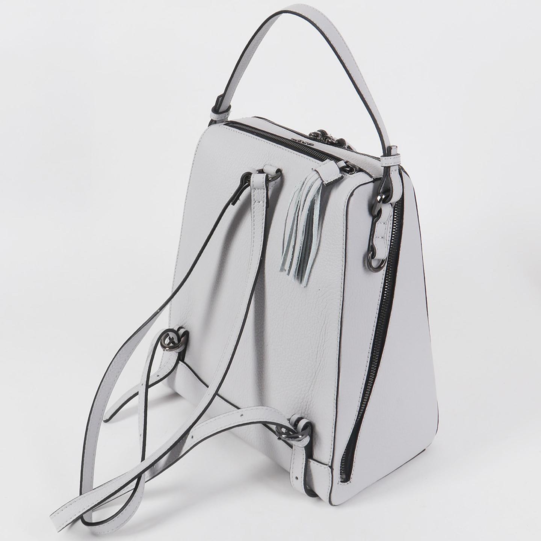 4a8c265e49cb Дымчато-белый кожаный рюкзак-сумка – Китай, серого цвета ...