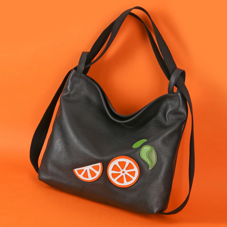 Черная кожаная сумка-трансформер мягкой формы – Китай, черного цвета ... a9a3d39b6ac