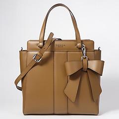 104953e300b3 ... Кожаная сумка-тоут в оттенке верблюжьей шерсти со съемным бантом Tosca  Blu 18mb330 camel