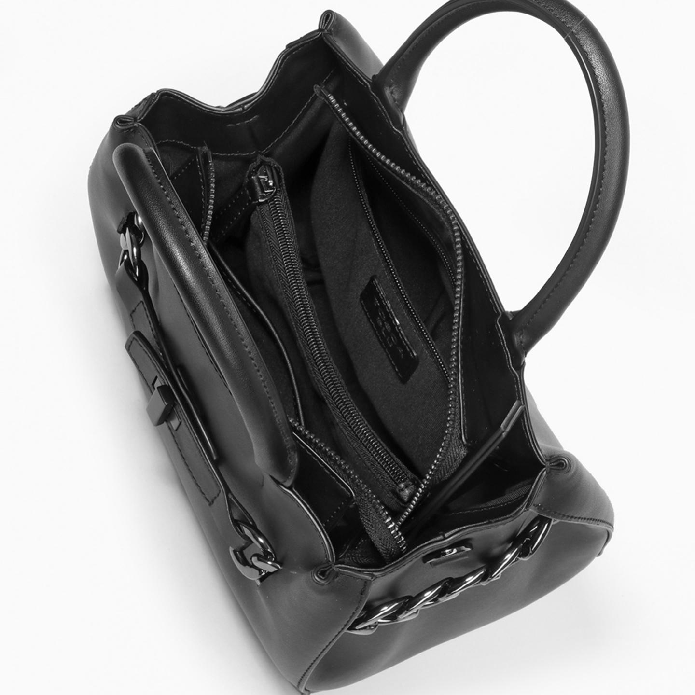 Небольшая черная кожаная сумка с декоративной цепью – Китай, черного ... 8df2fd9cd99