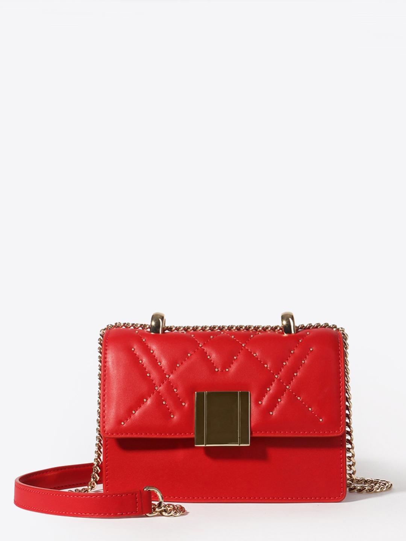 c9e9ceba06af Прямоугольная красная сумочка кросс-боди из натуральной кожи на цепочке Tosca  Blu ...