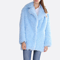 Шуба Alice street 2116 light blue