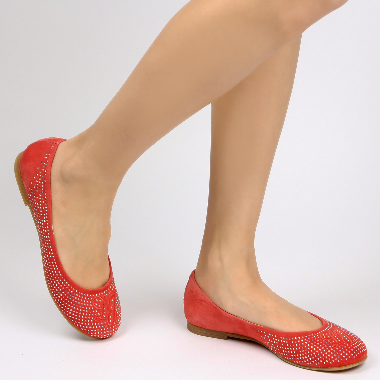 Балетки Liu Jo 21220 chamois coral – Италия, красного цвета, замша ... 8917ef4d0dd