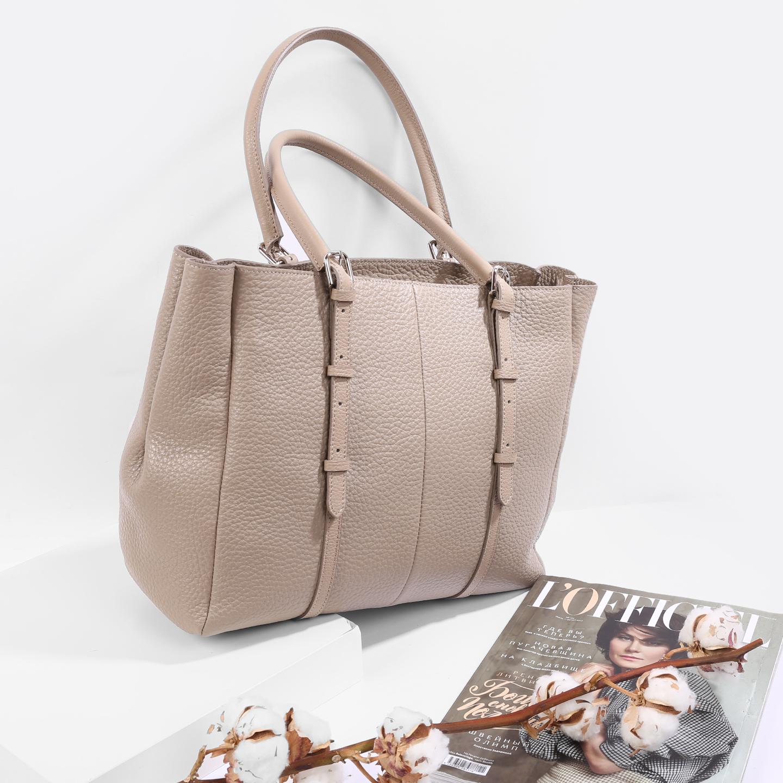 22b3d0fc79a1 Бежевая сумка из мягкой кожи – Россия, бежевого цвета, натуральная ...