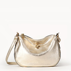 ... Золотистая сумка кросс-боди из мягкой кожи с молнией-расширителем  Richet 2269 gold a5445f96dac