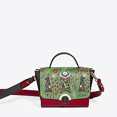 1759faa1adb4 ... Трехцветная кожаная сумочка-трансформер с принтом KELLEN 2310 green red  black