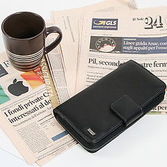 3fb195c4e63f ... Черный кожаный бумажник-органайзер Alessandro Beato 236-4002 black