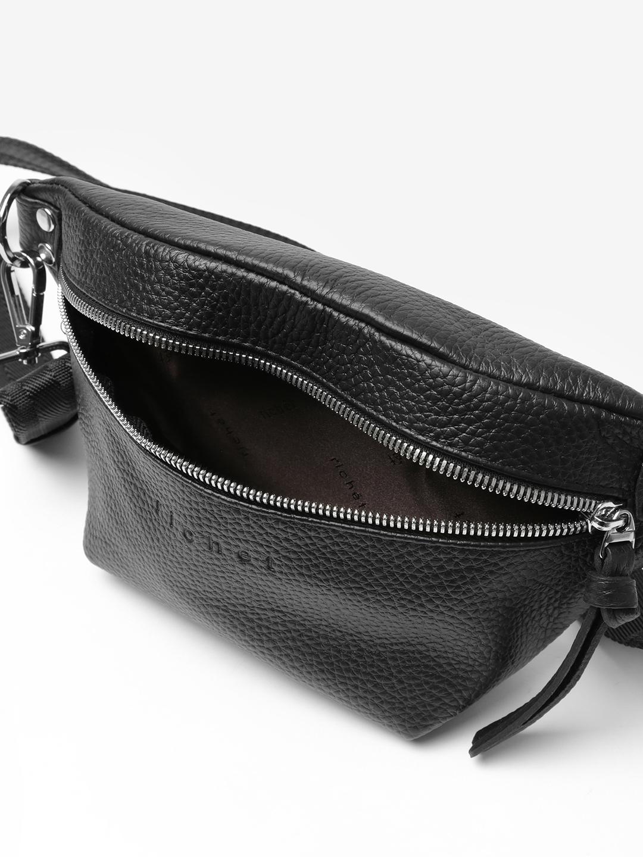8db53f400e87 Черная поясная сумка из кожи с текстильным ремнем – Россия, черного ...