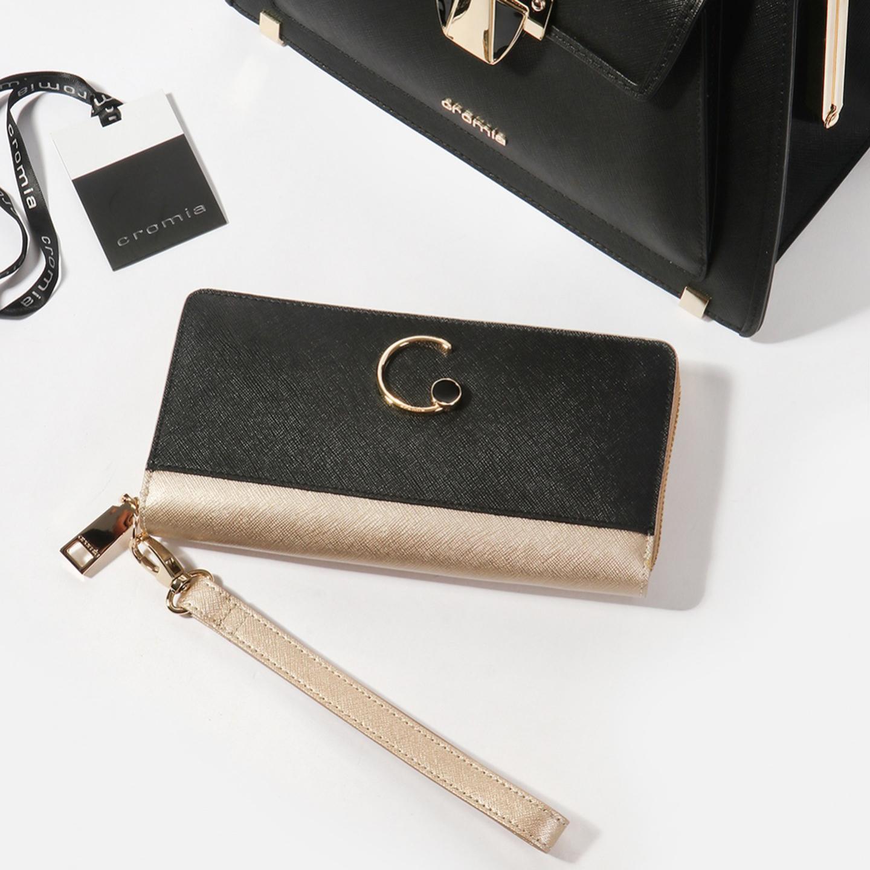 774353e3c11c Золотистый бумажник-клатч из сафьяновой кожи на молнии – Италия ...