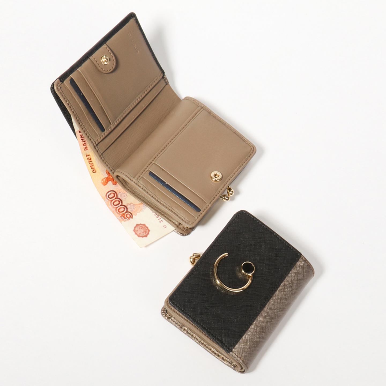 95cdbd35164d Красивый компактный кошелек из бронзовой и черной сафьяновой кожи с  отделением для мелочи на фермуаре Cromia ...